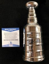 Red Kelly Signed Mini Stanley Cup Toronto Maple Leafs Red Wings Becket COA