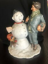 Norman Rockwell's first edition Winter - Snow Sculpture