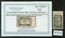 More details for  poland - 1945-46 polish corps in italy - imperforated, very rare as used #5257