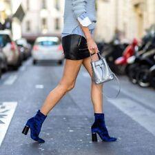 3.1 Phillip Lim Royal Blue Stretch Velvet Kyoto Boots 37 38 39 NIB $695