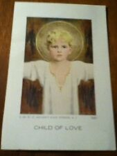 NOS 1961 'Child of Love' / 'A Prayer' St. Anthony's Guild Holy Card