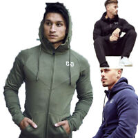 Men's Heavyweight Zip Up Hoodie Sweatshirts Gym Workout Casual Jackets Clothes