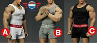 1/6 scale Men Tank Top Underwear Set for Phicen M33 M34 MALE MUSCULAR Body