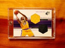 1999 Shaquille O'Neal DUAL 2X LAKERS SNEAKER PATCH JERSEY Winning Materials Shoe