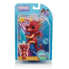WowWee FINGERLINGS Glitter Baby Dragon RUBY Interactive Toy (Red w/ Yellow Hair)