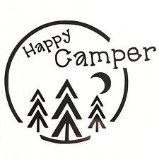 Happy Camper Vinyl Decal Sticker