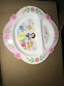 Disney Princess First Years Plastic Divided Plate - Preowned