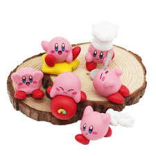 6pcs/set Anime Cartoon Cute Kirby PVC Figures Toys Kirby 's Dream Land Kids Gift