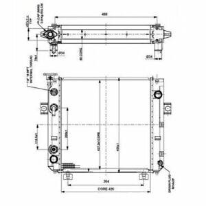 Kühler Alu gelötet für Yale, Forklift NRF  52300