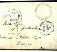 GB TYNE SHIPBUILDING *Willington Quay* Letter Northumberland 1850 Cover H111a