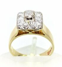 Outstandingly Beautifully Unique Vintage 3 Stone Diamond Ring in 18ct Gold