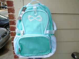New Nfinity light teal /white Princess Cheer backpack