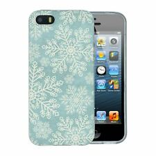 For Apple iPhone 5 5S SE Silicone Case Christmas Snowflake Pattern - S5228