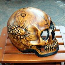 Motorcycle Helmet Skull Skeleton Death  Ghost Full Face. New Brown M - 2XL