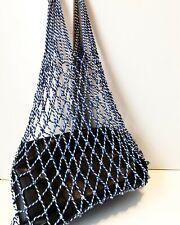 Celine Tote Bag Net Fishnet Mesh Filet Phoebe Philo Cotton