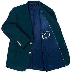 Penn State Nittany Lions Team Blazer Licensed Logo Sport Coat Short Regular Tall
