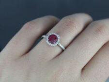 Anillos de joyería anillo de compromiso de oro blanco de rubí