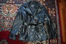 A/X BY EMPORIO COLLEZIONI FAUX LEATHER JACKET BLACK BELTED AUTHENTIC SZ-M NWT