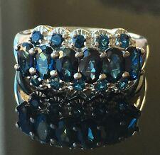 NYC II® 16-Stone Band Ring Indicolite Platinum SZ 7 NEW