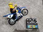 Vintage 1999 Tyco RC Mini X-Treme Cycle Jeremy McGrath Yahama + Remote. Works!
