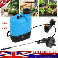 12V 16L Electric Weed Sprayer Rechargeable Backpack Farm Garden Pump Spray Hot