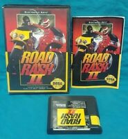 Road Rash II Racing  Sega Genesis Working Box, Cover Art Manual Game Tested