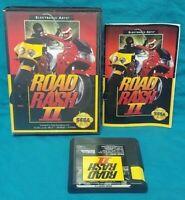 Road Rash II Racing  Sega Genesis Working Box, Cover Art Manual Game Tested