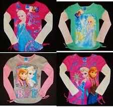 DISNEY FROZEN ANNA ELSA Long Sleeve Tees Shirts NEW Girls Size 4, 5, 6 or 6X $18