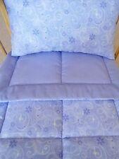 2 Piece Lavender Glitter Doll Bedding Blanket Pillow for Doll Crib Beds Handmade