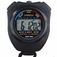 2018 Stopwatch Stop Watch Digital Professional Chronograph Timer Counter Sports