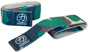 Strength Shop Camo Lifting Straps - Olympic Weightlifting, Powerlifting