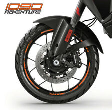 1090 Adventure motorcycle wheel decals rim stickers stripes Laminated ktm orange