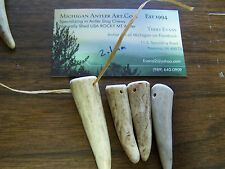 30 Elk Deer Antler Tips Tines Native Jewelry Charms Crafts Necklace  / POLISHED