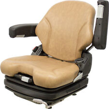 Grammer MSG75 Brown Vinyl Air Seat - Fits Scag ZTR Zero Turn Mowers Turf Tiger