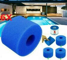 More details for 6 x spa swimming pool filter washable fits lazy s1 v1 type round bio foam