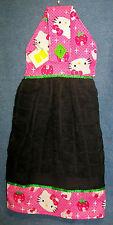 *NEW* Hello Kitty Cupcakes & Strawberries Hanging Kitchen Fridge Hand Towel #899