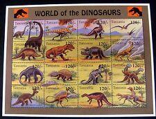 Tanzania Dinosaur Stamps Prehistoric Brontosaurus Triceratops Tyrannosaurus