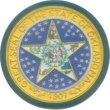 Oklahoma State City Town Municipal Office Uniform Seal Arms Crest Indian Tribes