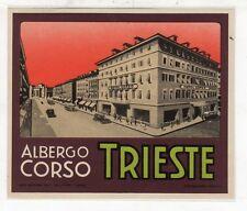 [CY] 2 LUGGAGE LABEL ETICHETTA BAGAGLIO HOTEL -  ALBERGO CORSO TRIESTE
