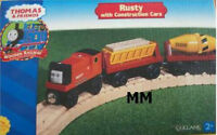 THOMAS THE TANK & FRIENDS-RUSTY WITH CONSTRUCTION CARS 2001 **NEW/RETIRED/RARE**