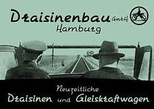 Draisinenbau GmbH Hamburg: Neuzeitliche Draisinen und Gleiskraftwagen