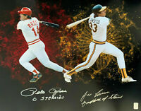 """Pete Rose & Jose Canseco Dual Signed 16x20 Photo """"0 Steroids"""" """"Godfather"""" COA"""