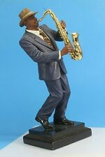 "Bellagio Creations Jazz Saxophone Player Statue. 11.75"" Tall."