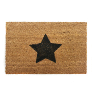 Star Natural Coir Doormat Indoor Outdoor Durable Quality Welcome Novelty Mat UK