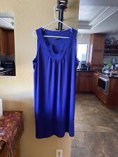 dana buchman dress  sleeveless blue XL stretch