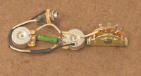Telecaster Wiring Harness CTS Brass Shafts-Russian PIO Capacitor-Switchcraft
