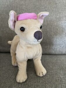 Applause Chihuahua Dog Plush Bruiser Pink Beret Legally Blonde Red White Blonde