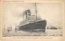 T.S.S. ROTTERDAM Holland-America Line Ocean Liner Cruise Ship ca 1950s Postcard