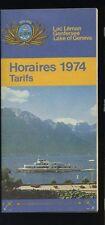 1974 Lake Geneva Schedule and Rates Brochure