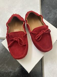 NIB 100% AUTH Gucci Toddler Boys Suede Bow Tie Moccasin Web Detail 371804